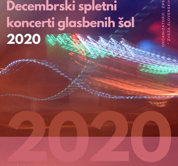 Decembrski spletni koncerti glasbenih šol 2020